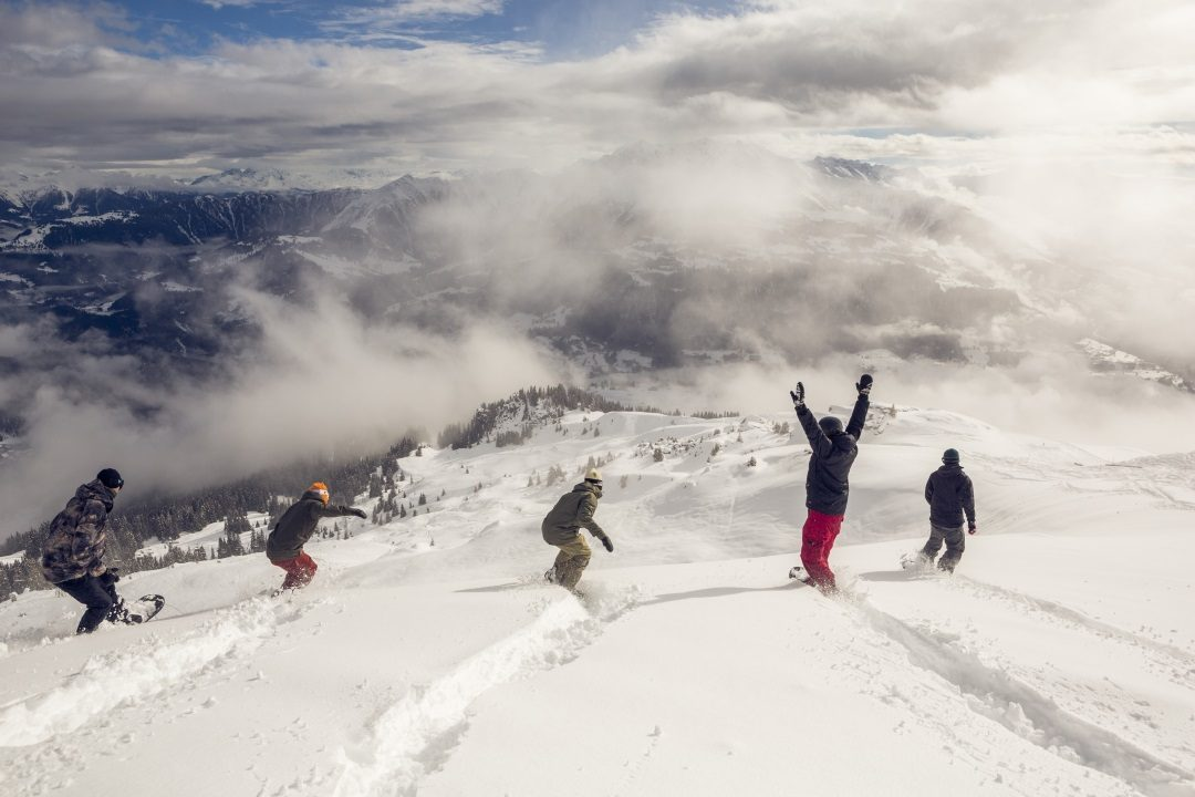 Riding in Laax