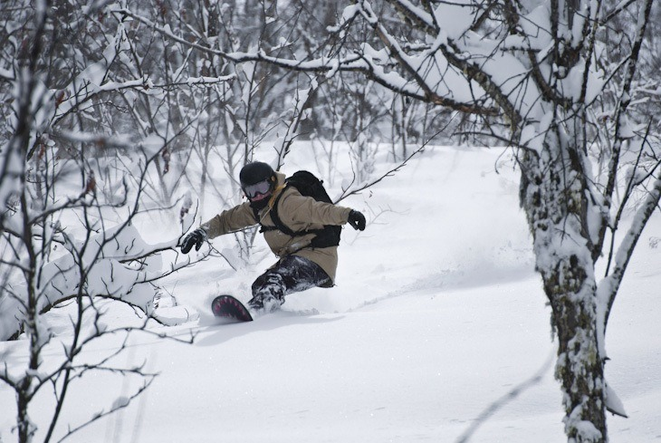 Ana Rumiah - Snowboarden in Georgien