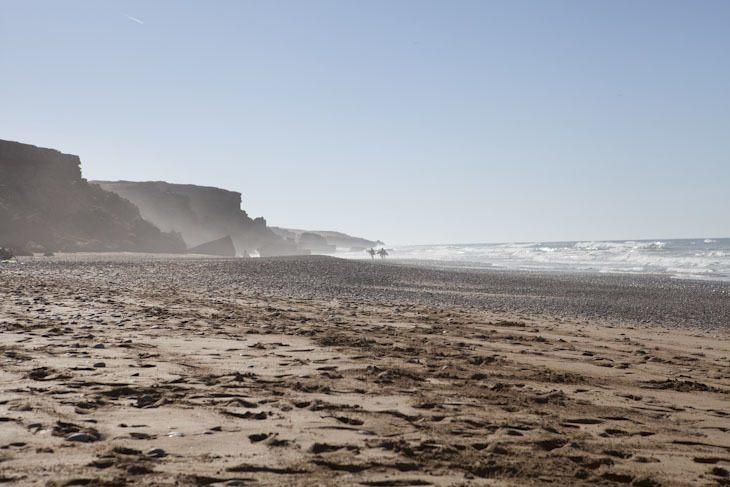 Einsamer Strand in Marokko