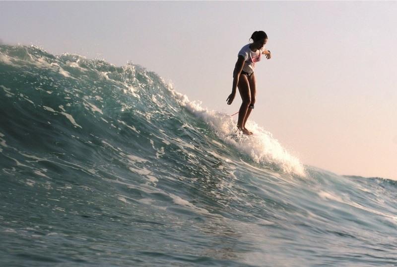 Surfen an der Französischen Atlantikküste