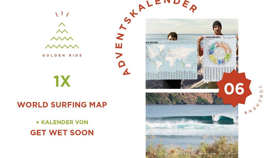 Adventskalender 6. Türchen: Surfing Worldwide Map & Kalender
