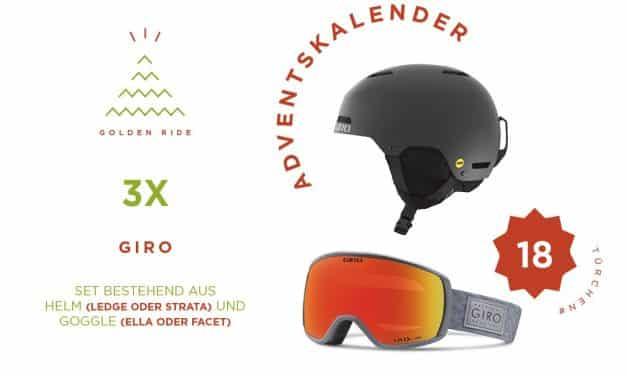 Adventskalender 18. Türchen: Goggle & Helm von Giro