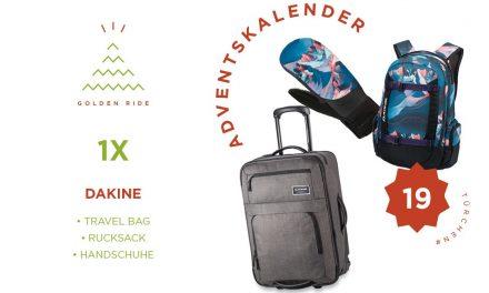 Adventskalender 19. Türchen: Handschuhe, Rucksack und Tasche von Dakine