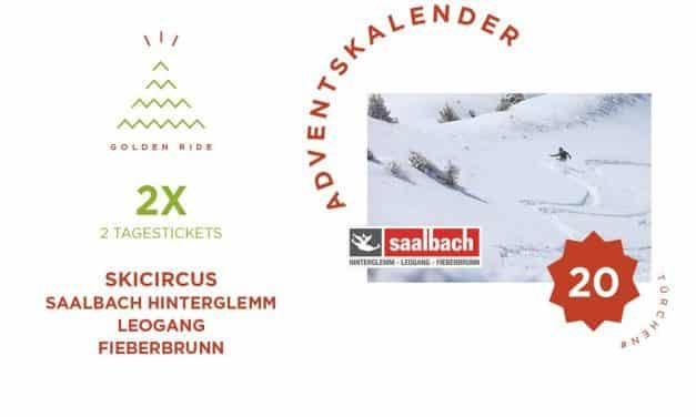 Adventskalender 20. Türchen: 2 x 2 Tagestickets für den Skicircus Saalbach Hinterglemm