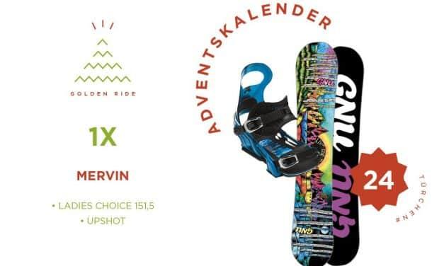 Adventskalender 24. Türchen: Snowboard Ladies Choice und Bindung Upshot von Gnu