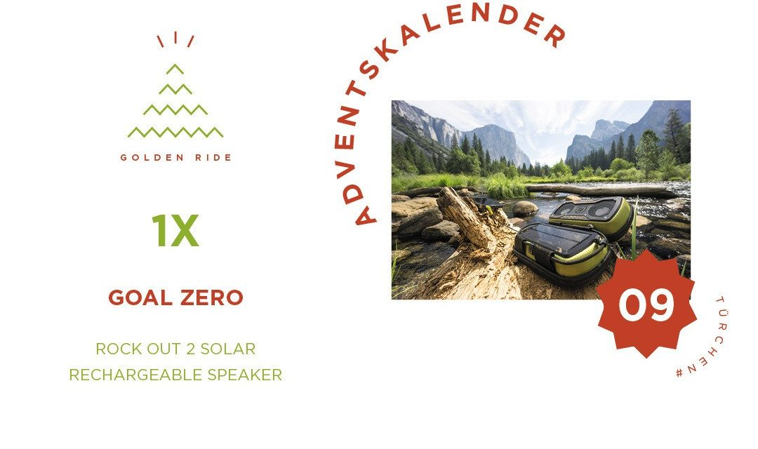 Adventskalender 9. Türchen: Rock Out 2 Solar Rechargeable Speaker von Goal Zero