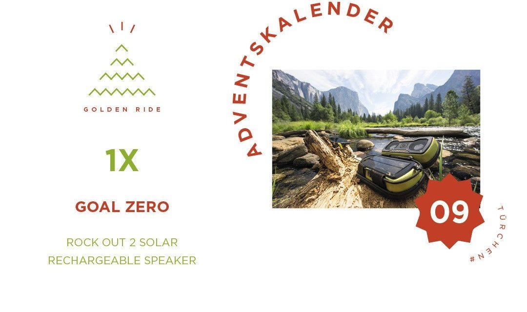 Adventskalender 9. Türchen: Rock Out 2 Solar Rechargeable Speaker von Goal Zero