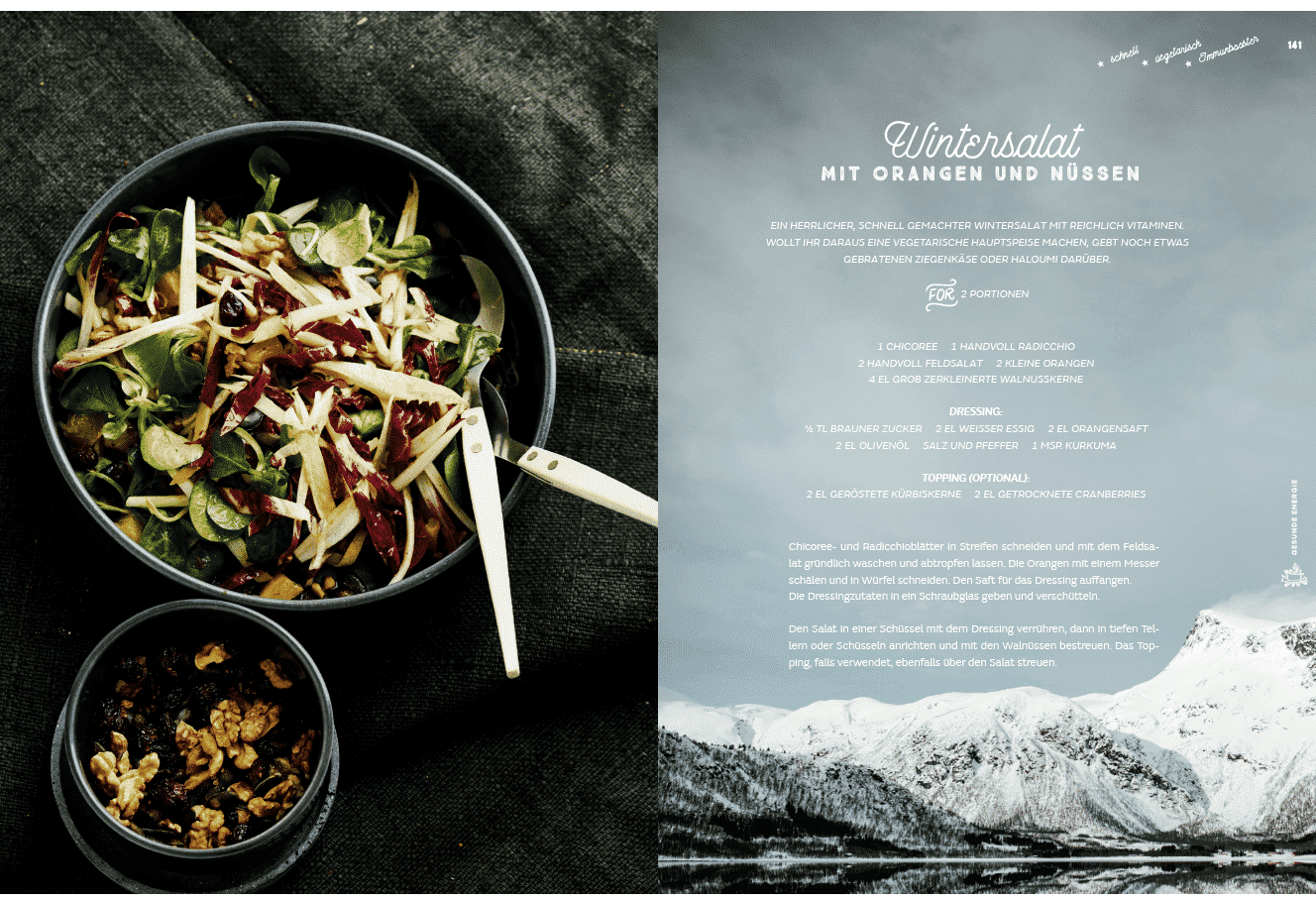 Wintersalat aus The Great Outdoors Winter Cooking