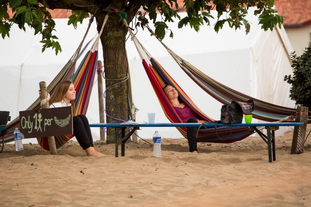Chill-Ecke im Wavetours Camp Vieux