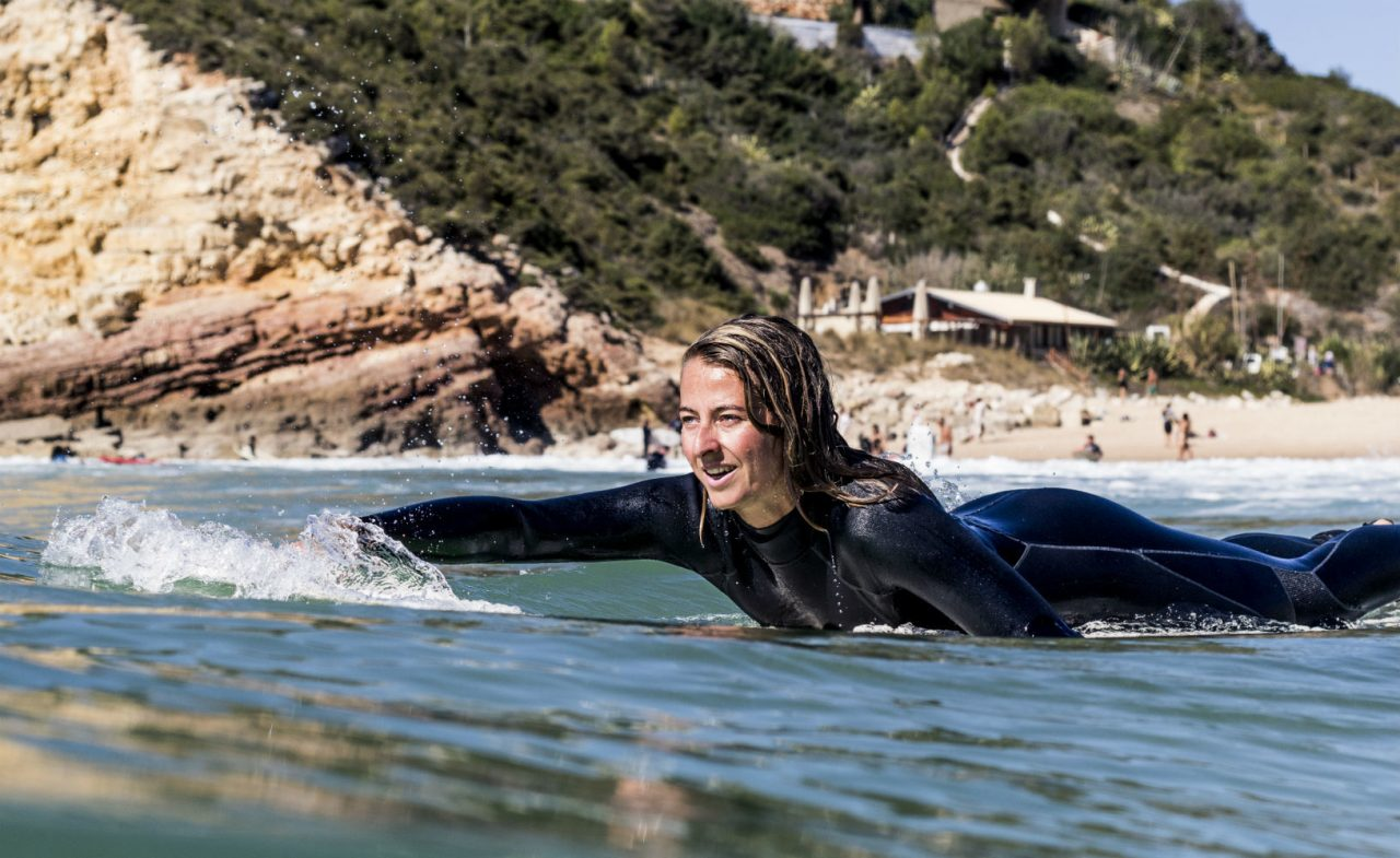 Portugal Surflife Atlantic Riders Surf paddle girl