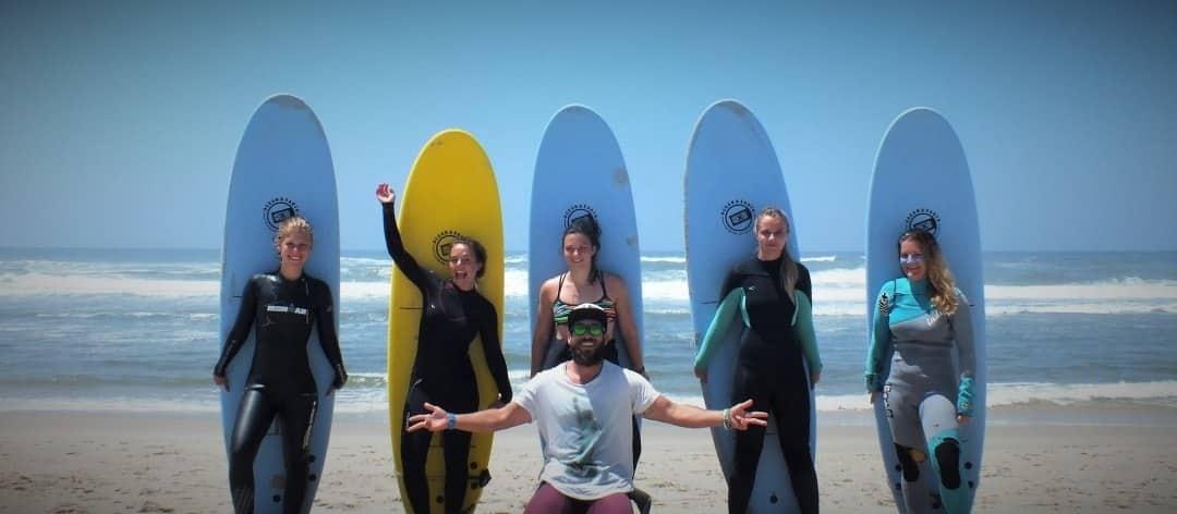 Slide Surfcamp Gruppen Surfunterricht