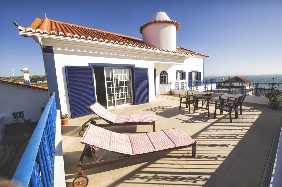 Terrasse im Mellowmove Surfcamp