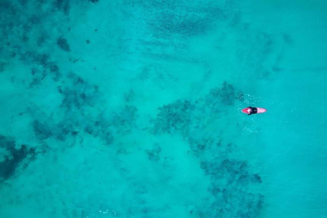 Einsamer Surf