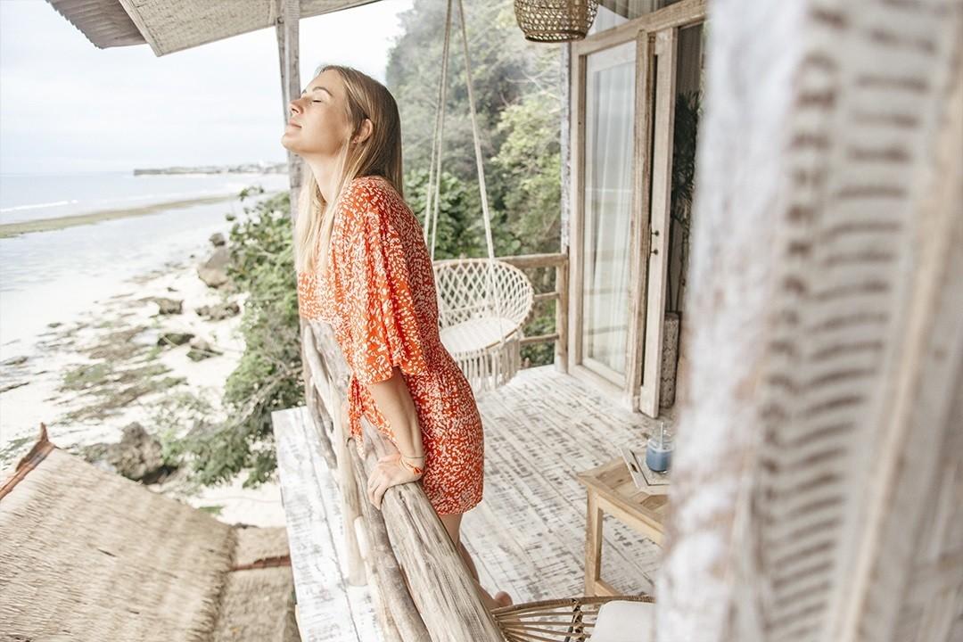 Dreamsea Surf Camp Bali - Zimmer mit Aussicht