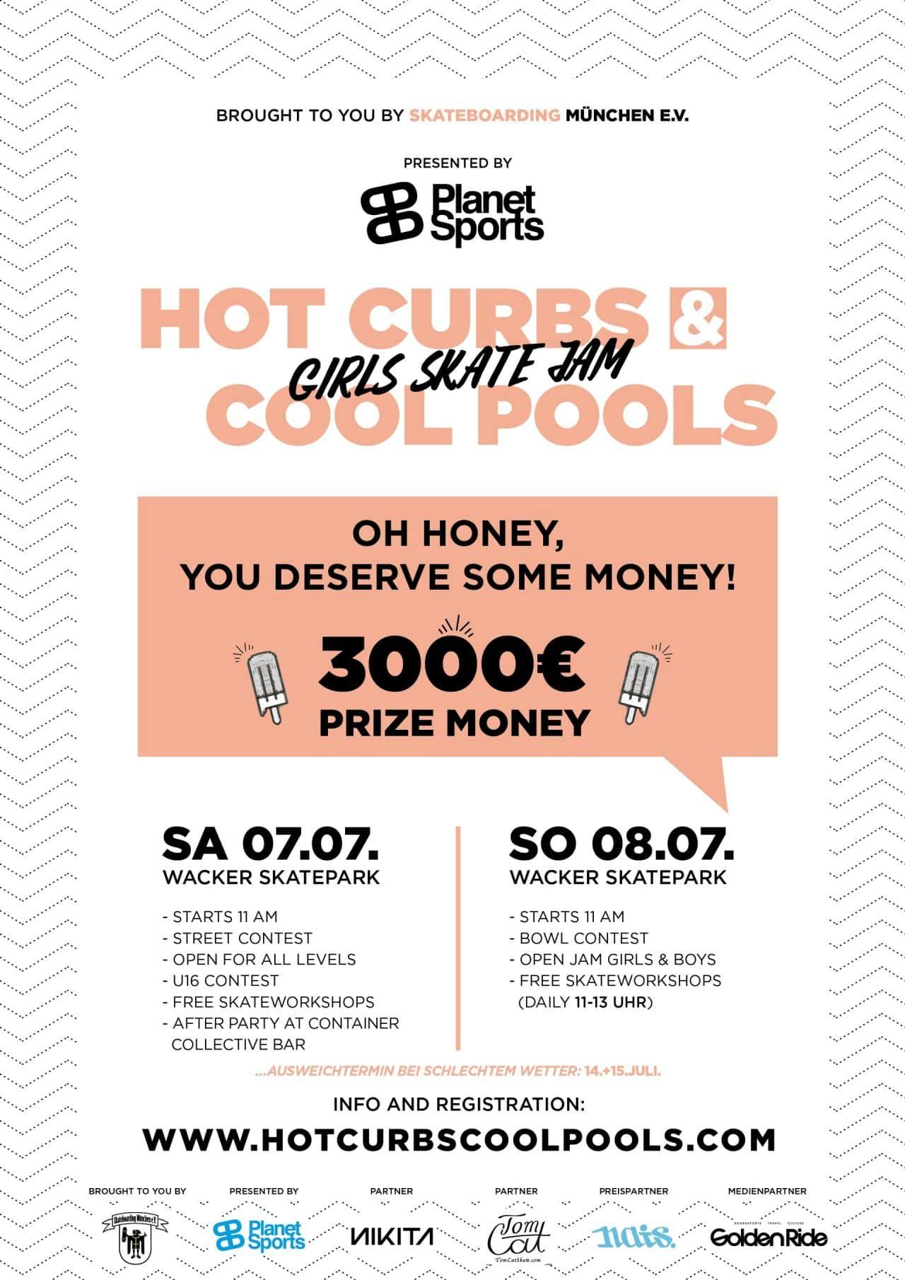 Hot Curbs & Cool Pools, Skateboard Event für Frauen, München
