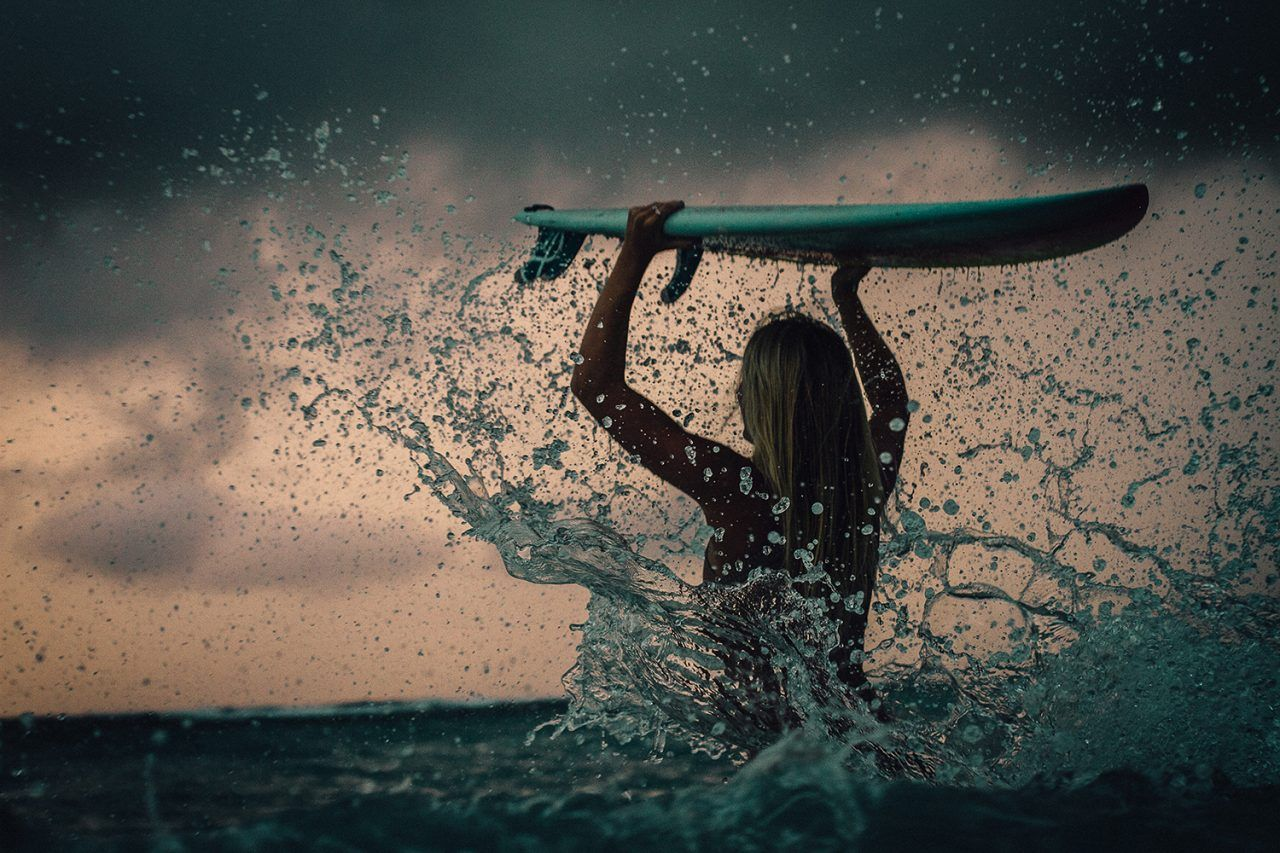 Surf photography, Lotta and the waves