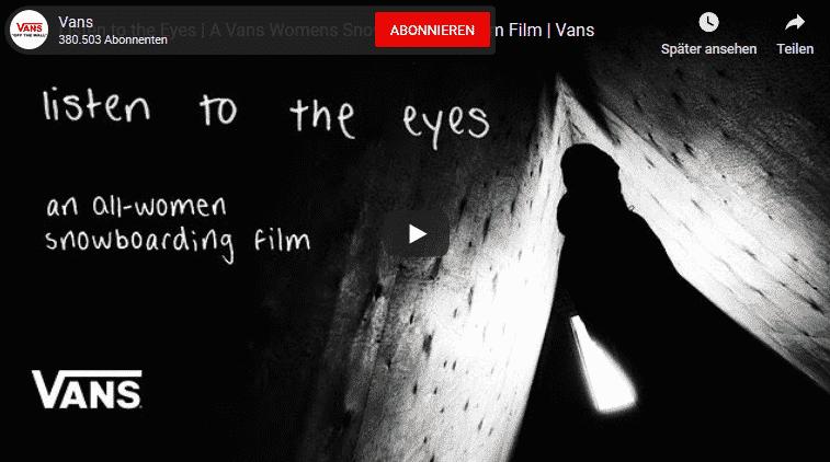 Vans Listen to the Eyes Movie