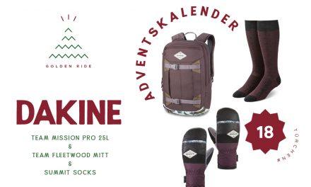 Adventskalender 18. Türchen: Rucksack, Socken und Handschuhe von Dakine