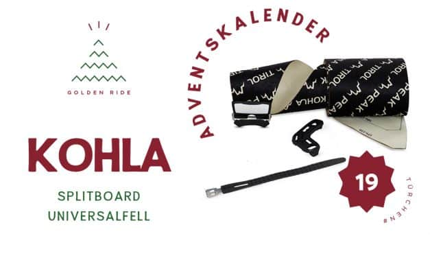 Adventskalender 19. Türchen: Splitboard Universalfell von Kohla