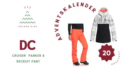 Adventskalender 20. Türchen: Cruiser Parker & Recruit Pant von DC Snowboarding