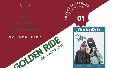 Adventskalender – 1. Türchen: 3x Jahresabo Golden Ride