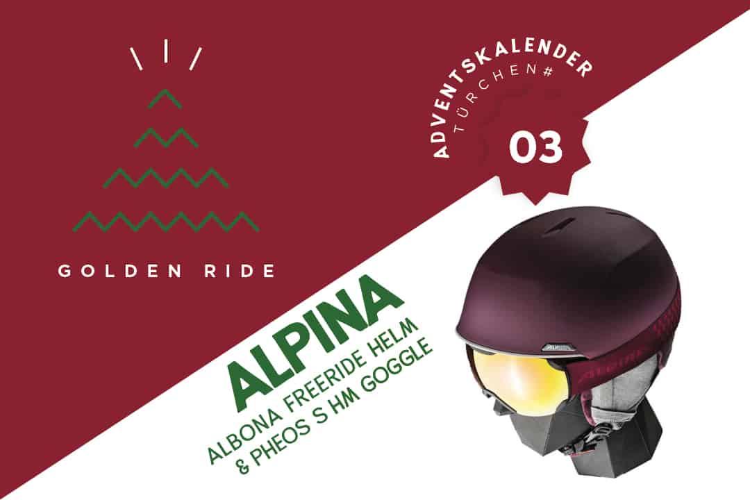 Helm und Goggle Alpina