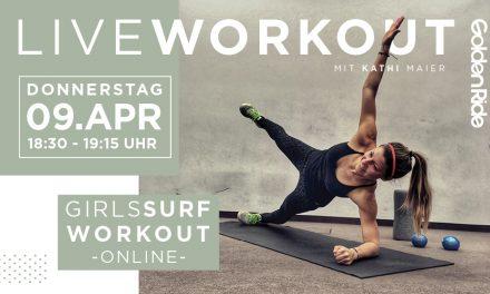 Girls Surf Workout – Live Session am 09. April 2020