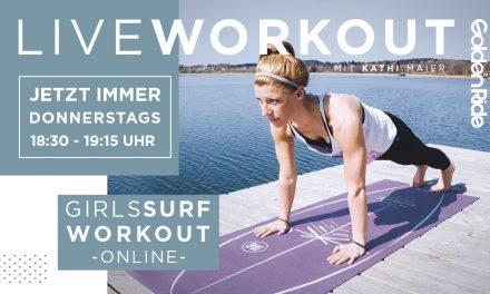Girls Surf Workout – Live Session jetzt jeden Donnerstag