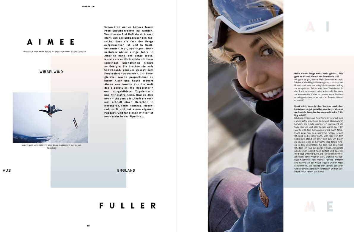 Golden Ride Snow Issue 20, Aimee Fuller