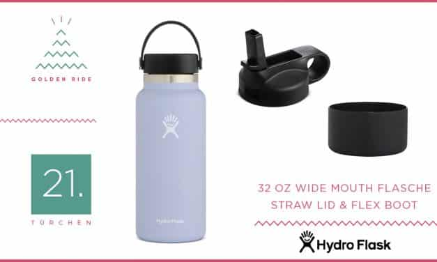 Adventskalender – 21. Türchen: Hydro Flask Flasche mit Zubehör
