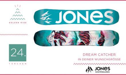 Adventskalender – 24. Türchen: All-Mountain Snowboard Dream Catcher von Jones Snowboards