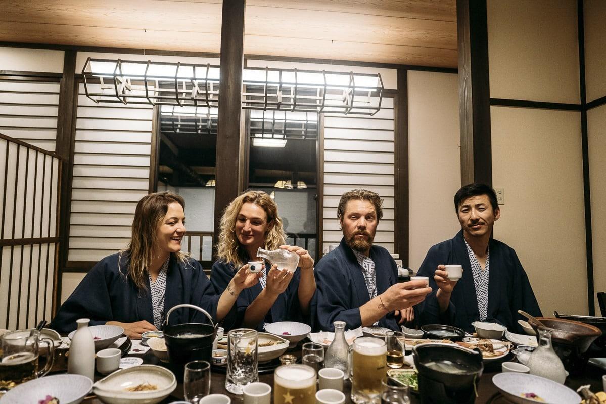 Elena Hight, Hana Beaman, Travis Rice und Shin Biyajim