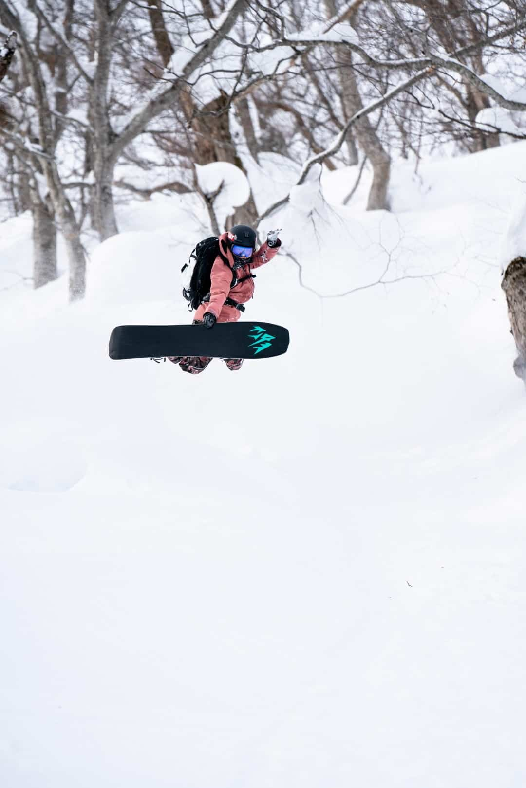 Elena Hight Freeriden in Japan