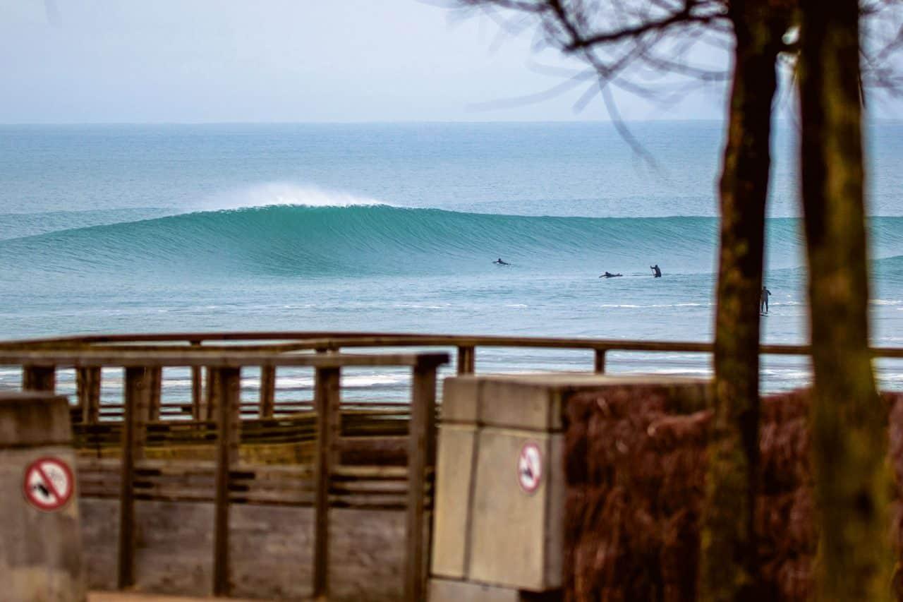 Winter Surf Frankreich