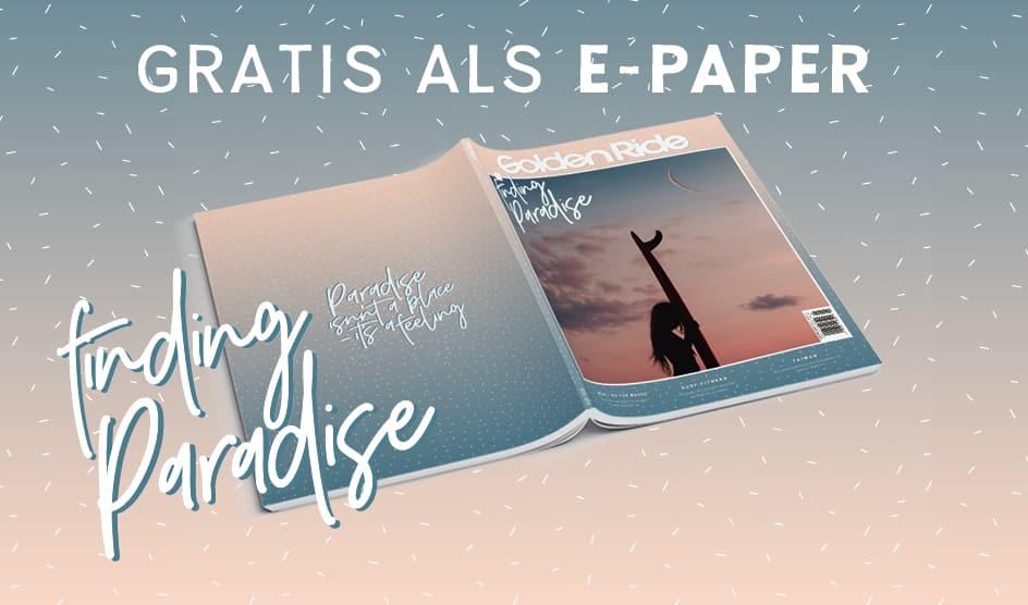Golden Ride Surf-Ausgabe Finding Paradise als Gratis E-Paper