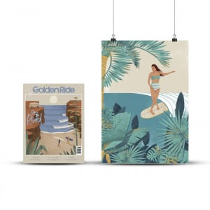 "Surf-Augabe ""On the road"" und Print Jungle Walk von Pia Himmelein"