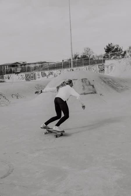 Surfskate Frontside Carve Schritt 2