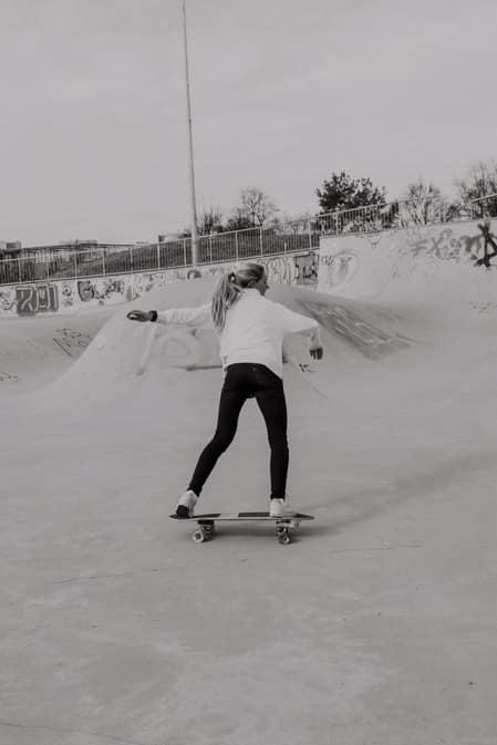 Surfskate Frontside Carve Schritt 3