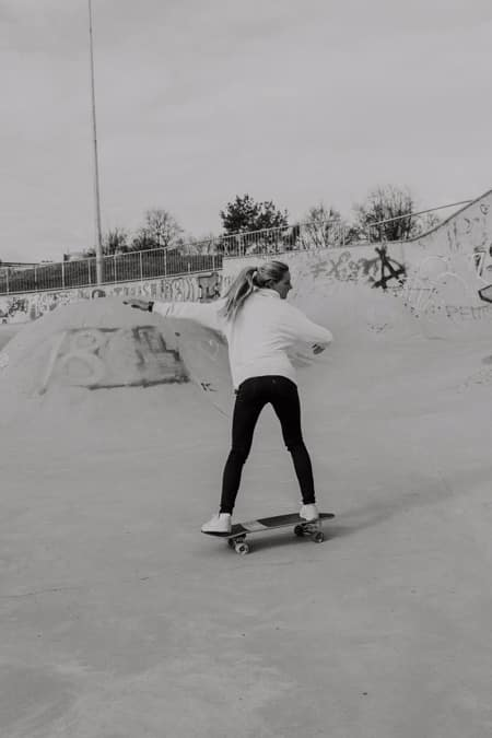 Surfskate Frontside Carve Schritt 4