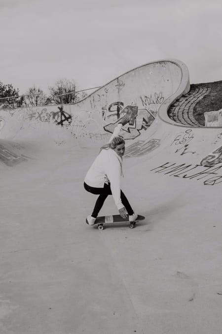 Surfskate Frontside Carve Schritt 6