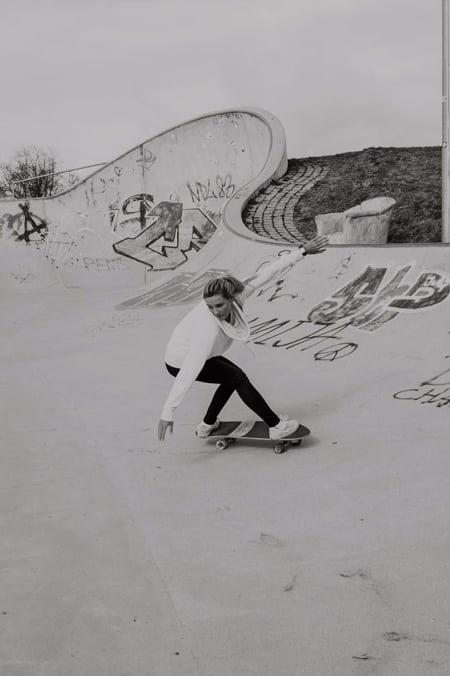 Surfskate Frontside Carve Schritt 7
