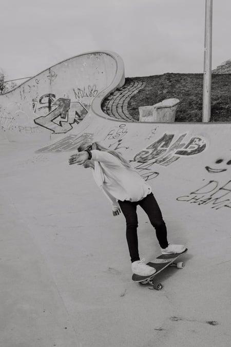 Surfskate Frontside Carve Schritt 9