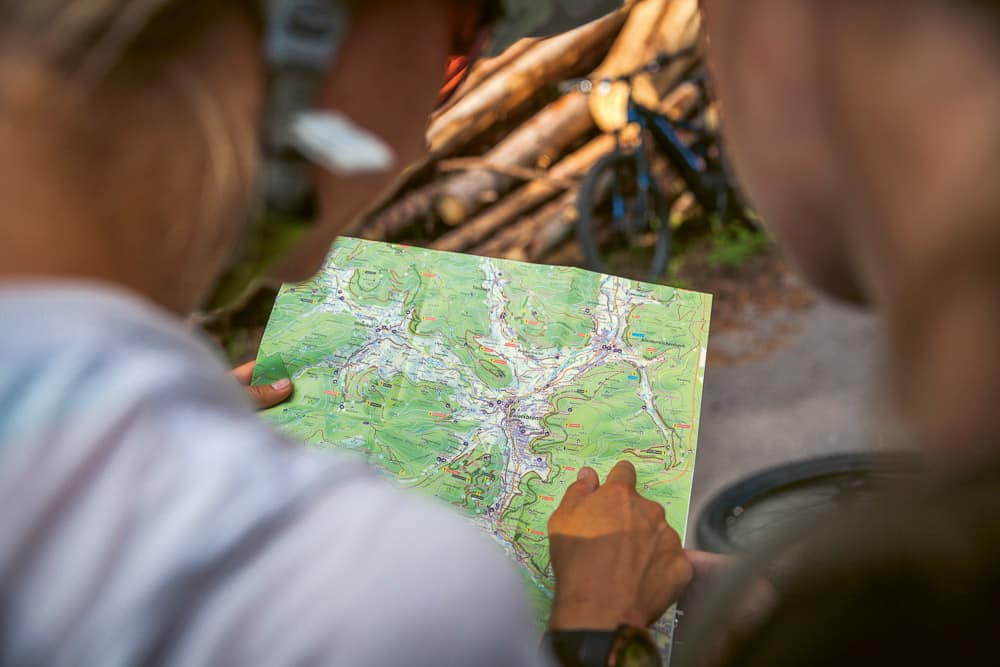 Trail-Planung mit Karte