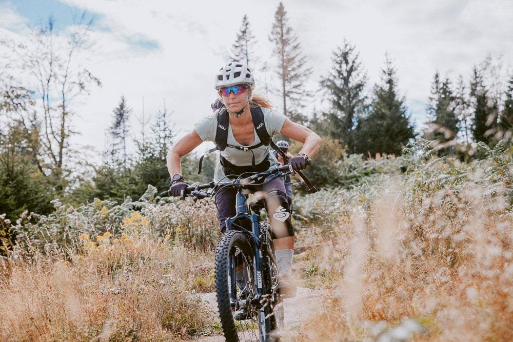Baiersbronn: Mountainbikern auf Trail