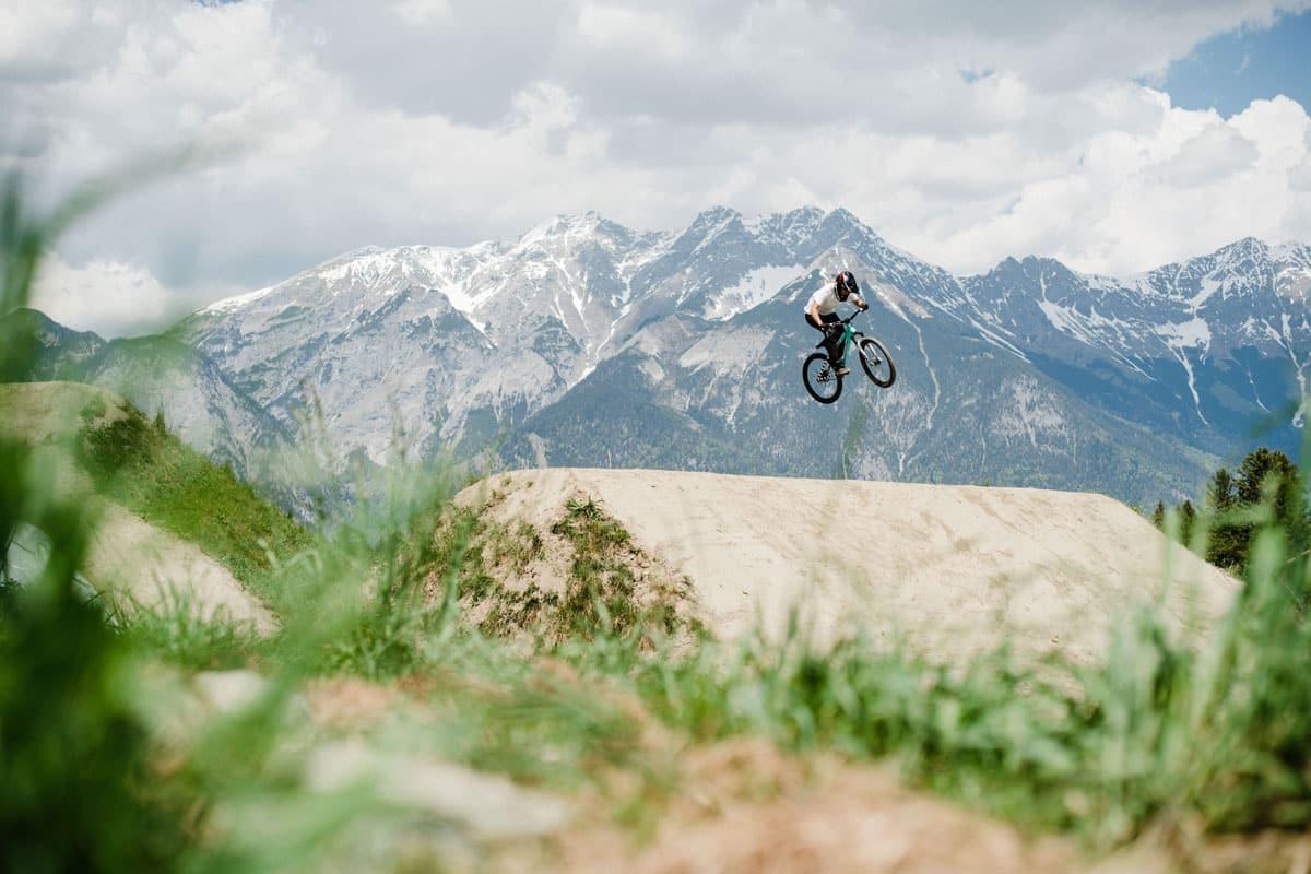 Kathi Kuypers im Bikepark Innsbruck
