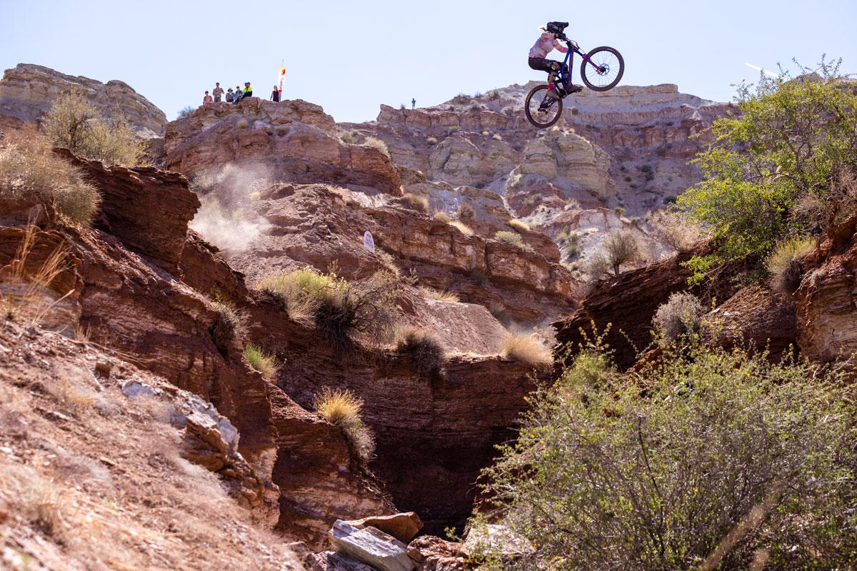 Chelsea Kimball jumps canyon gap