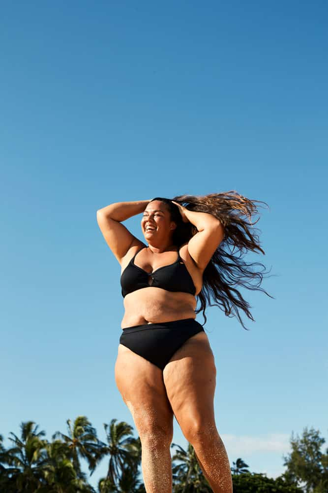 Roxy On The Beach: Schwarzer Bikini