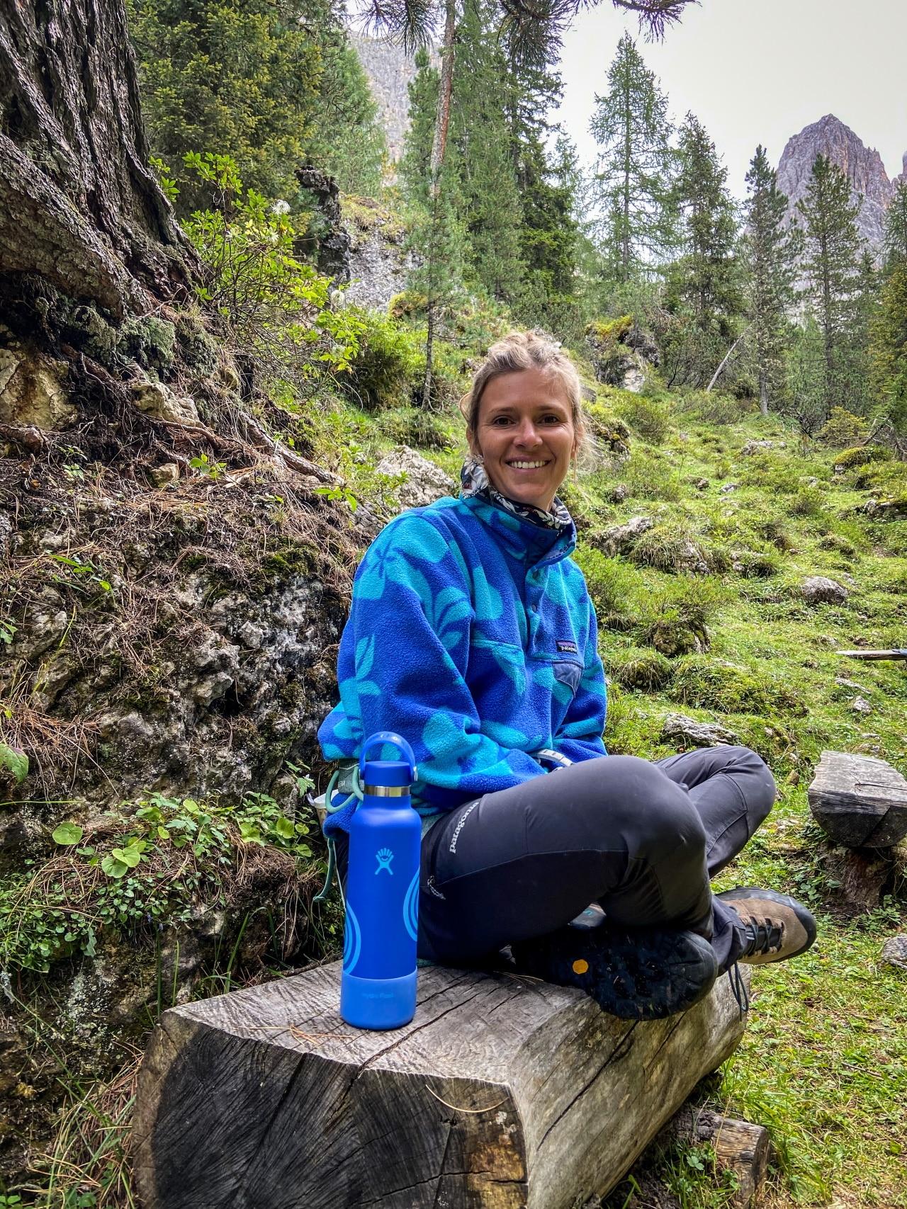 Lena Stoffel in den Bergen